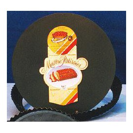 Moule à tarte en acier bleui (Cannelé - fond amovible)