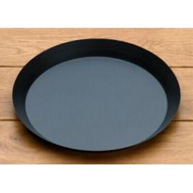 Moule à tarte en acier bleui (Lisse - bord évasé 3cm)