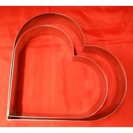 Cadre cœur en inox