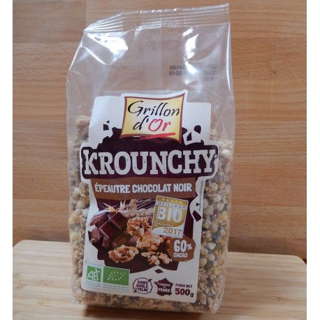 Krounchy bio – Epeautre et chocolat noir
